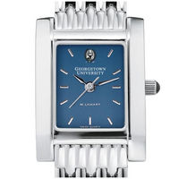 M.LaHart Womens Steel Quad Blue Dial with Bracelet