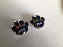 Penn State Paw PSU post earrings.