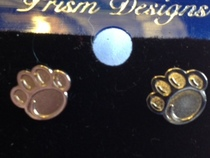 Penn State mini silver earrings.