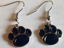 Penn State Paw dangle earrings.