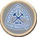 Crystal Coat Round Alumni Lapel Pin