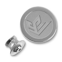 Silver Medallion Lapel Pin