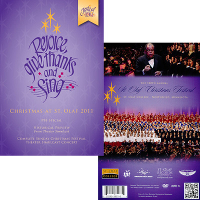 St. Olaf Christmas Festival 2011 Rejoice, Give Thanks, and Sing DVD