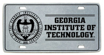 Georgia Tech License Plate