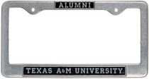 Texas A&M Aggies Alumni License Plate Frame