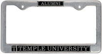 Temple Alumni License Plate Frame