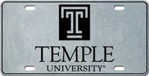 Temple License Plate