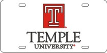 Temple Mirrored Acrylic License Plate