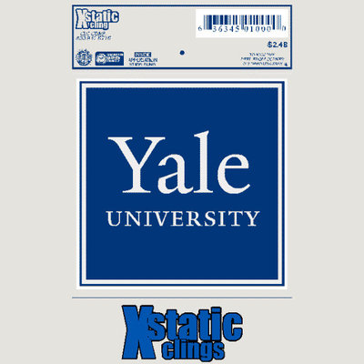 Yale Bulldogs Static Cling Decal
