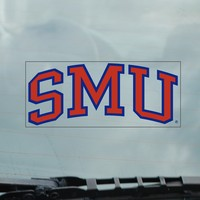 SMU Mustangs Static Cling Decal