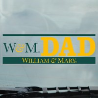 William and Mary Static Cling Decal