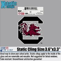 South Carolina Gamecocks Static Cling Decal