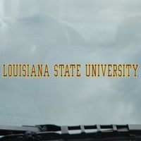 LSU Tigers Static Cling Decal