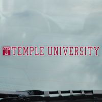 Temple Static Cling Decal