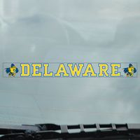 Delaware Blue Hens Static Cling