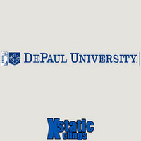 DePaul Static Cling Decal