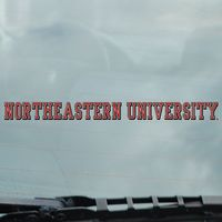 Northeastern Huskies Static Cling Decal