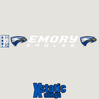 Emory Eagles Static Cling Decal