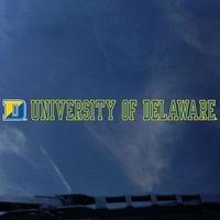 Delaware Blue Hens Color Shock Strip Decal