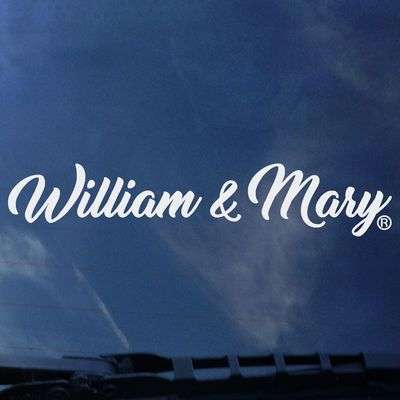 William and Mary Color Shock Strip Decal