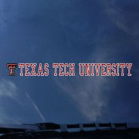 Texas Tech Red Raiders Color Shock Strip Decal