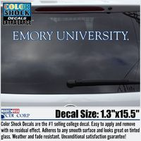 Emory Eagles Color Shock Strip Decal