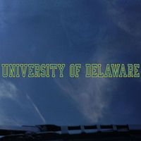 Delaware Blue Hens Color Shock Strip Car Decal