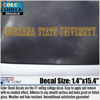 LSU Tigers Color Shock Strip Decal