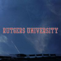 Rutgers Scarlet Knights Color Shock Strip Decal