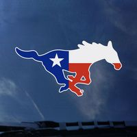 SMU Mustangs Color Shock Mascot Decal
