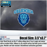 Columbia University Color Shock Mascot Decal