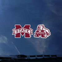 Mississippi State Bulldogs Color Shock Mascot Decal