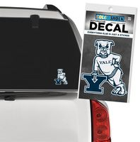 Yale Bulldogs Color Shock Mascot Decal