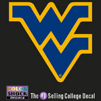 WVU Mountaineers Color Shock Wordmark Decal