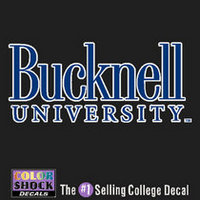 Bucknell Color Shock Wordmark Decal