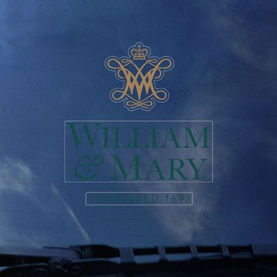 William and Mary Color Shock Wordmark Decal