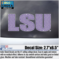 LSU Tigers Color Shock Seal Decal