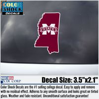 Mississippi State Bulldogs Color Shock Seal Decal