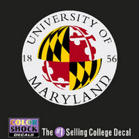 University of Maryland Color Shock Seal Decal