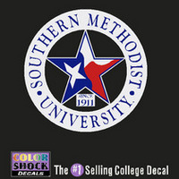 SMU Mustangs Color Shock Seal Decal