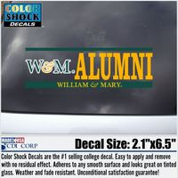 William and Mary Color Shock Seal Decal