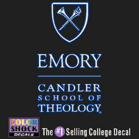 Emory Eagles Color Shock Seal Decal