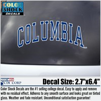 Columbia Lions Color Shock School Name Decal