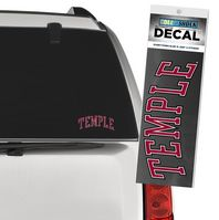 Temple Color Shock School Name Decal
