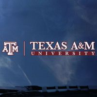 Texas A&M Aggies Color Shock School Name Decal