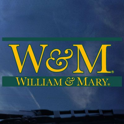 William and Mary Color Shock School Name Decal