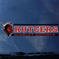 Rutgers Scarlet Knights Color Shock School Name Decal