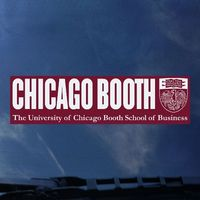 University of Chicago Color Shock Chicago University Name Decal