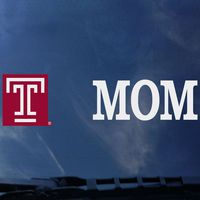 Temple Mom Colorshock Decal