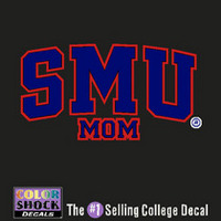 SMU Mustangs Colorshock Decal